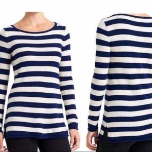 ATHLETA Striped Backcountry Cashmere Sweater SMALL